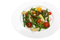Salad with Asparagus royalty free stock photos