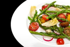 Salad with Asparagus stock photo