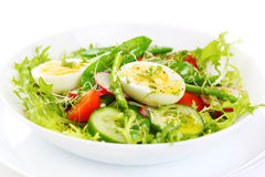 Salad of asparagus and green peas Stock Image