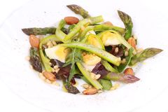 Salad with asparagus. Stock Images