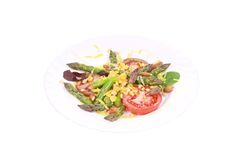 Salad with asparagus. Royalty Free Stock Image