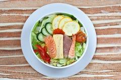 Salad with assorted sashimi Royalty Free Stock Photo