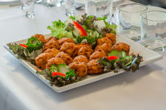 Salad assortment dish in a reception Stock Image