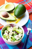 Salad with avocado royalty free stock photography