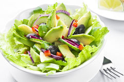 Salad with Avocado Royalty Free Stock Images