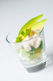 Salad of avocado and cheese Royalty Free Stock Photography