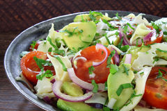 Salad with avocado and cheese Stock Image