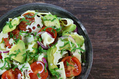 Salad with avocado and cheese Stock Photography