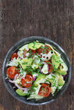 Salad with avocado, cheese and tomato Stock Images