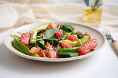 Salad with avocado and grapefruit Stock Images