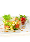 Salad with avocado and salmon Stock Images
