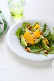 Salad with avocado and spinach Stock Photo