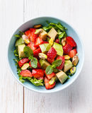 Salad with avocado and strawberry Royalty Free Stock Photo