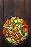 Salad with avocado, tomato, paprika and corn Royalty Free Stock Photos