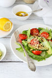 Salad with avocado and tomatoes Stock Photo