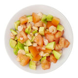 Salad of avocado, tomatoes and shrimp Stock Images