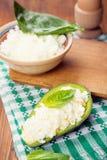 Salad in avocado Royalty Free Stock Image