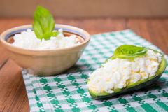Salad in avocado Stock Image