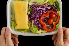Salad Background / Salad / Salad on Black Background Stock Images
