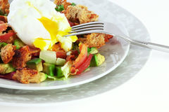 Salad with bacon, avocado and boiled egg Stock Images