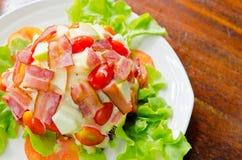Salad bacon Stock Photos