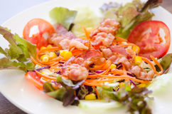 Salad and bacon Stock Images