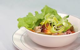 Salad with bacon and potatoes Stock Image