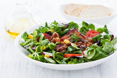 Salad with bacon Stock Image