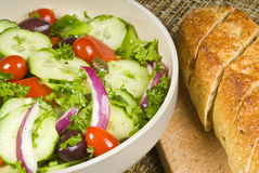Salad and Baguette Royalty Free Stock Image