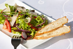 Salad with baguette Royalty Free Stock Images