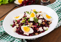 Salad baked beets Royalty Free Stock Photography