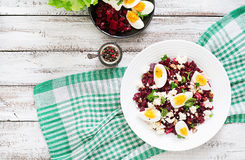 Salad baked beets Royalty Free Stock Photos