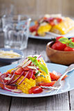 Salad with baked corn Royalty Free Stock Photos
