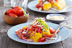 Salad with baked corn Royalty Free Stock Photography