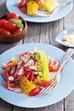 Salad with baked corn Stock Image