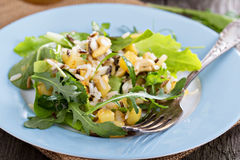 Salad with baked potato, rice and greens Stock Image
