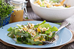Salad with baked potato, rice and greens Royalty Free Stock Image