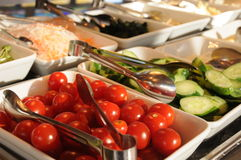 Salad bar. In a restaurant of a hotel Stock Image