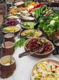Salad Bar. Buffet salad bar in a luxury hotel restaurant Stock Photography