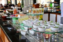 Salad Bar at Buffet Stock Images
