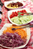 Salad bar buffet, vegetables at restaurant on a counter Royalty Free Stock Photography