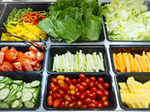 Salad Bar Fresh Vegetables Healthy food Stock Photos