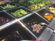 Salad Bar Fresh Vegetables Organic green Healthy Stock Photo