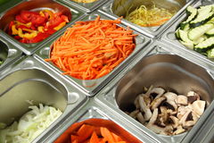 Salad bar for Restaurnat kitchen Royalty Free Stock Photography