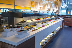 Salad Bar. Variety of vegetable at the salad bar in the restaurant Royalty Free Stock Photo