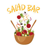 Salad Bar Vector Illustration Stock Photo