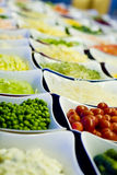 Salad Bar Vegetables Stock Photo