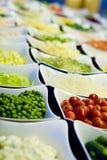 Salad Bar Vegetables Stock Photo