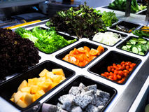 Salad bar with vegetables in the restaurant, healthy food.  Royalty Free Stock Photography