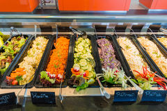 Salad bar - vegetarin food Royalty Free Stock Photos